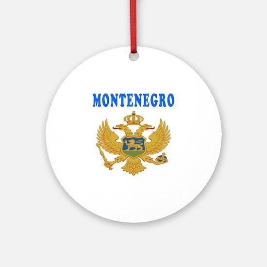 Montenegro Coat Of Arms Designs Ornament (Round)