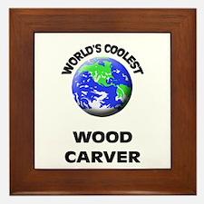 World's Coolest Wood Carver Framed Tile
