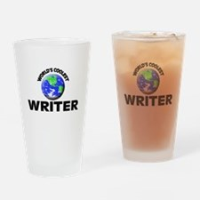 World's Coolest Writer Drinking Glass
