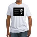 Jefferson Quote Fitted T-shirt (Made in