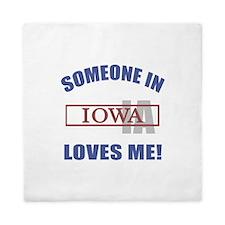 Someone In Iowa Loves Me Queen Duvet