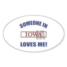 Someone In Iowa Loves Me Decal