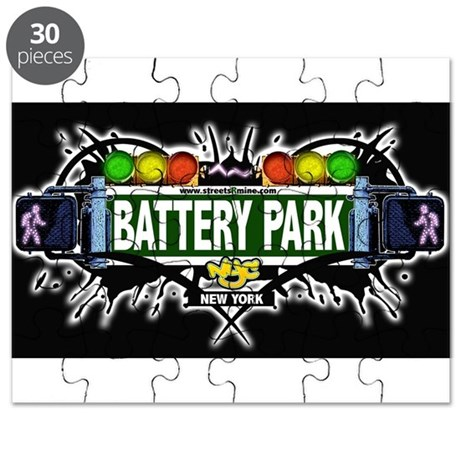 Battery Park Manhattan NYC (Black) Puzzle