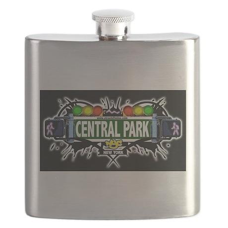 Central Park Manhattan NYC (Black) Flask