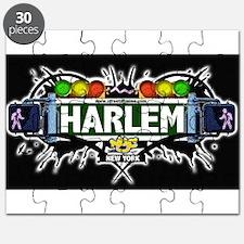 Harlem Manhattan NYC (Black) Puzzle