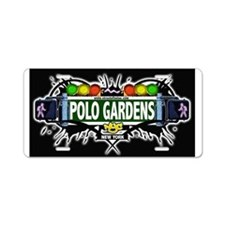 Polo Gardens Manhattan NYC (Black) Aluminum Licens