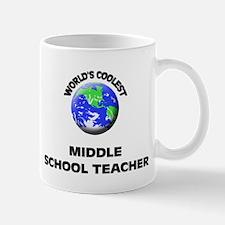 World's Coolest Middle School Teacher Mug