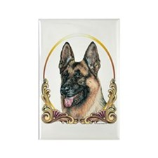 German Shepherd Holiday/Christmas Rectangle Magnet