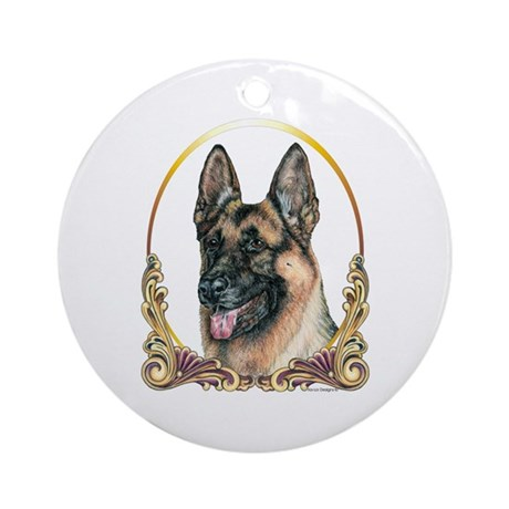 German Shepherd Holiday/Christmas Ornament (Round)