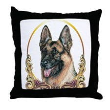 German Shepherd Holiday/Christmas Throw Pillow