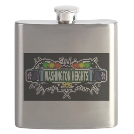 Washington Heights Manhattan NYC (Black) Flask