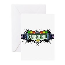 Carnegie Hill Manhattan NYC (White) Greeting Cards