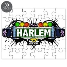 Harlem Manhattan NYC (White) Puzzle