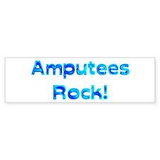 Amputees Rock! Car Sticker