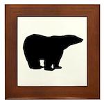 Polar Bear Graphic Framed Tile