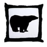 Polar Bear Graphic Throw Pillow