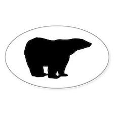 Polar Bear Graphic Oval Decal