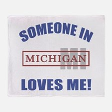 Someone In Michigan Loves Me Throw Blanket