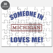 Someone In Michigan Loves Me Puzzle