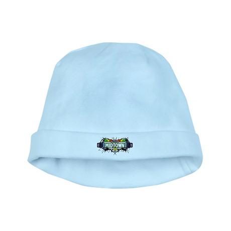 Midtown Manhattan NYC (White) baby hat