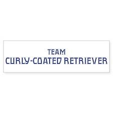 Team Curly-Coated Retriever Bumper Bumper Sticker