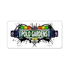 Polo Gardens Manhattan NYC (White) Aluminum Licens