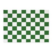 Chartreuse Checkerboard 5'x7'Area Rug