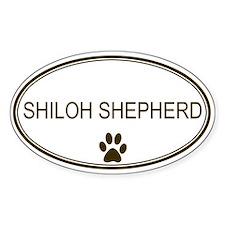 Oval Shiloh Shepherd Oval Decal