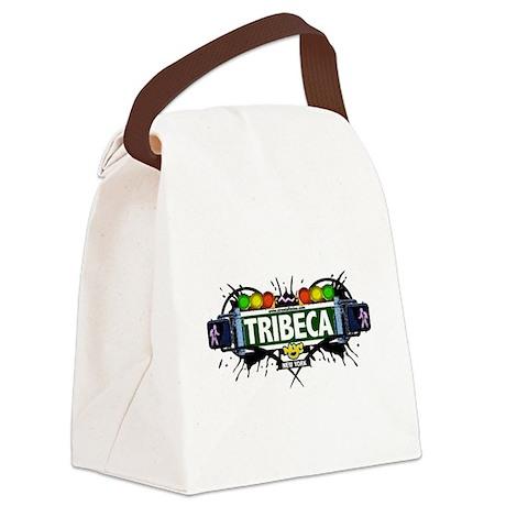 Tribeca Manhattan NYC (White) Canvas Lunch Bag