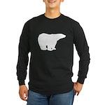 Polar Bear Graphic Long Sleeve Dark T-Shirt