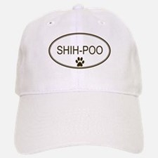 Oval Shih-Poo Baseball Baseball Cap