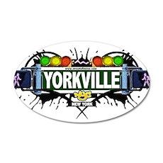 Yorkville Manhattan NYC (White) 35x21 Oval Wall De