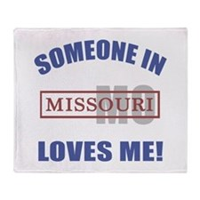 Someone In Missouri Loves Me Throw Blanket