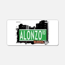 ALONZO ROAD, QUEENS, NYC Aluminum License Plate