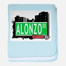 ALONZO ROAD, QUEENS, NYC baby blanket