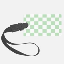 Mint Green checkerboard Luggage Tag