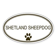 Oval Shetland Sheepdog Oval Decal