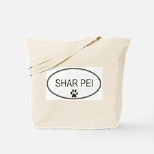Oval Shar Pei Tote Bag