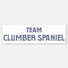Team Clumber Spaniel Bumper Bumper Bumper Sticker