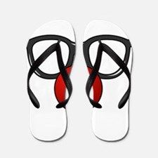 Funny Glasses with Clown Nose Flip Flops