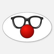Funny Glasses with Clown Nose Decal