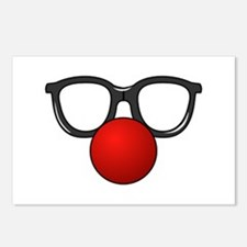 Funny Glasses with Clown Nose Postcards (Package o