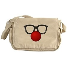 Funny Glasses with Clown Nose Messenger Bag