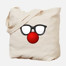Funny Glasses with Clown Nose Tote Bag