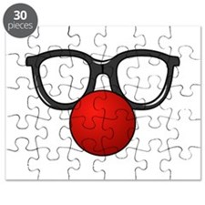 Funny Glasses with Clown Nose Puzzle