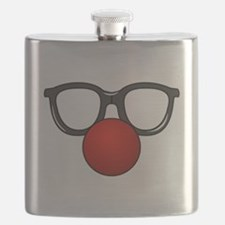Funny Glasses with Clown Nose Flask