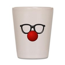 Funny Glasses with Clown Nose Shot Glass