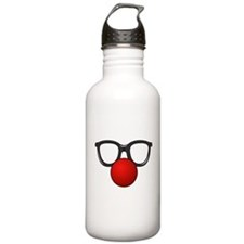 Funny Glasses with Clown Nose Water Bottle