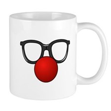 Funny Glasses with Clown Nose Mug