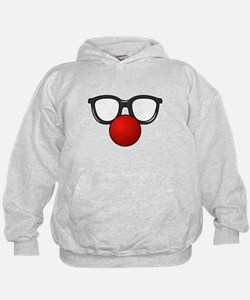Funny Glasses with Clown Nose Hoodie